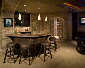 luxury finished basement