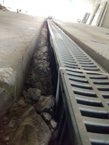trench drain installation