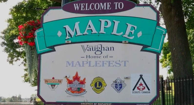Maple Ontario Sign