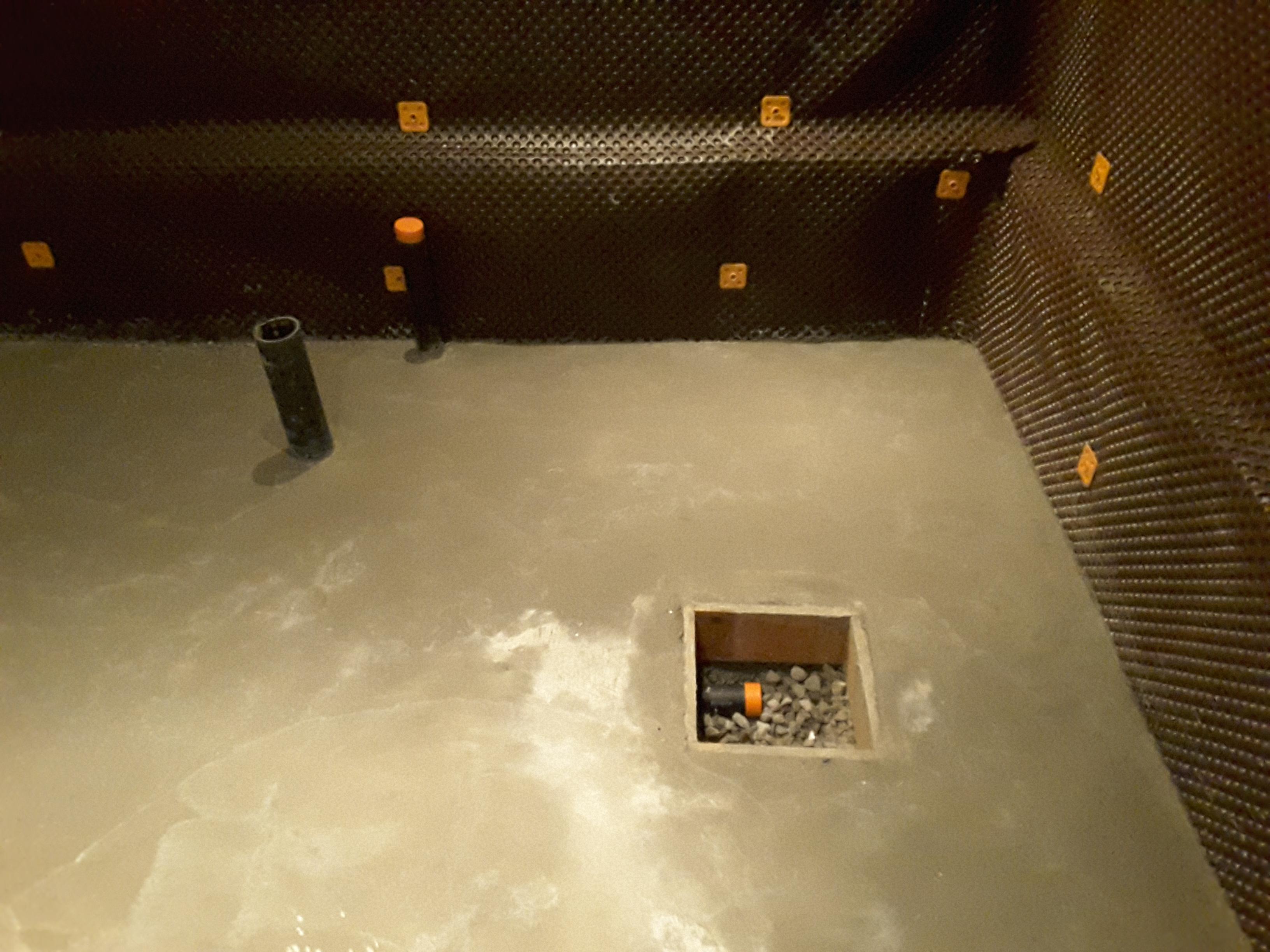 basement lowering - drain