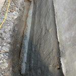 basement waterproofing side wall concrete