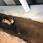 basement waterproofing trench digger