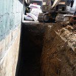 basement waterproofing trench