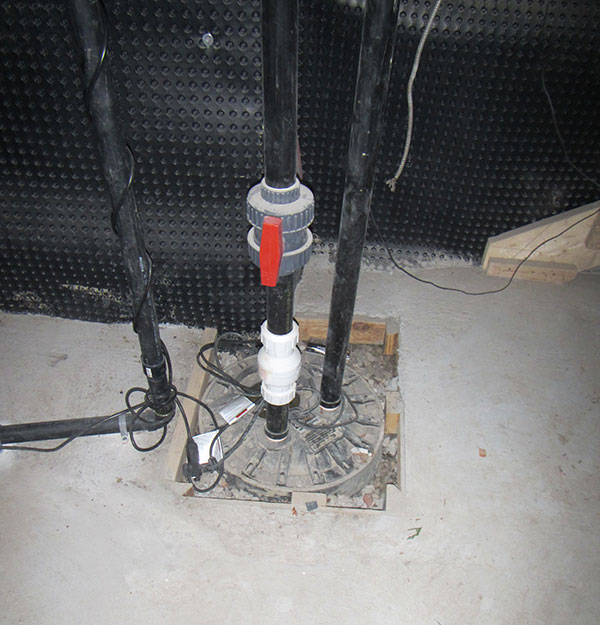 new sump pump install