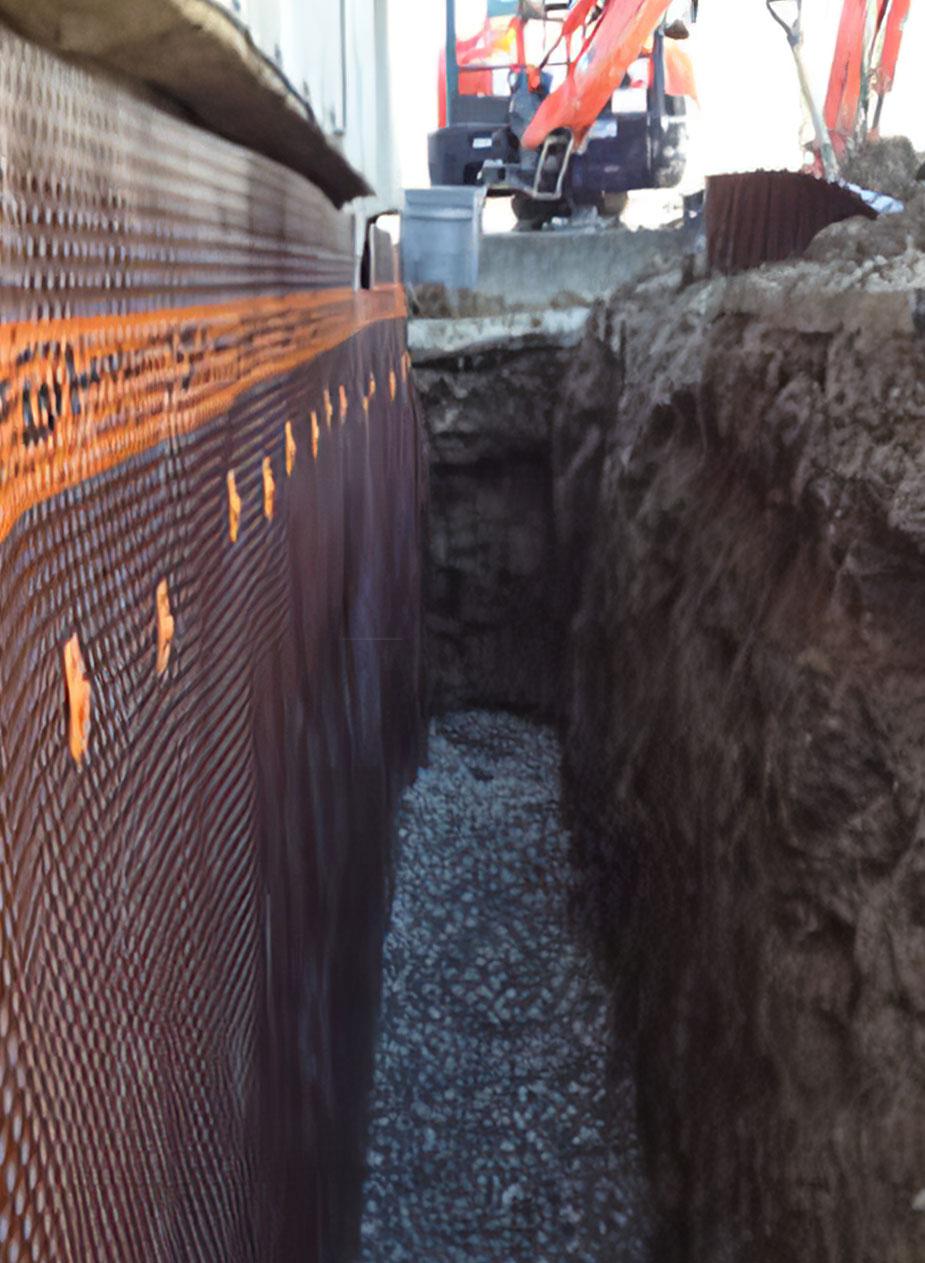 basement waterproofing project in Toronto