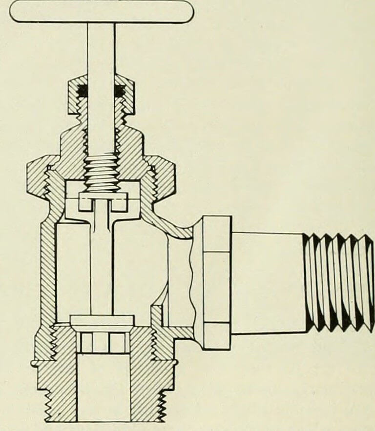 illustration of a stop check valve