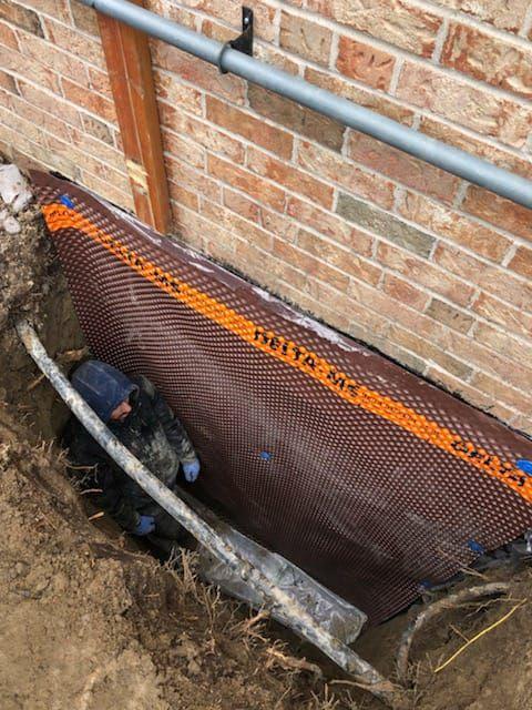 exterior-basement-waterproofing-toronot-membrane