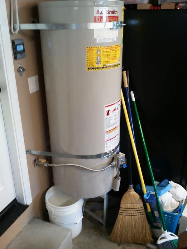 old leaking water heater