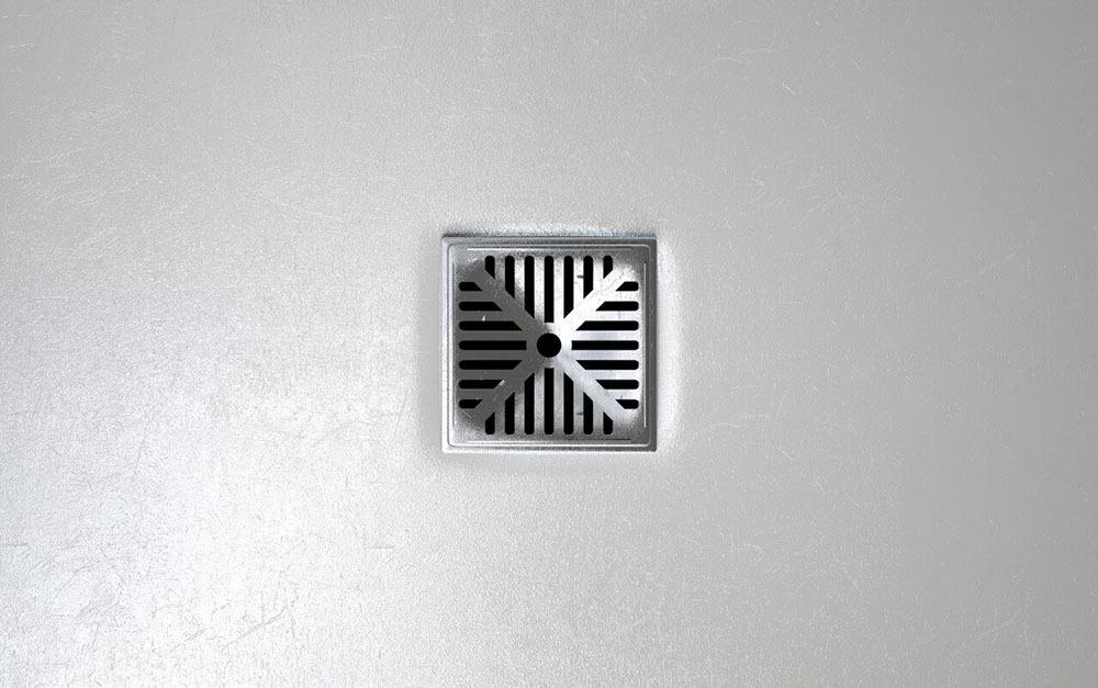 maintained floor drain
