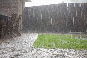 basement leaking due to heavy rain