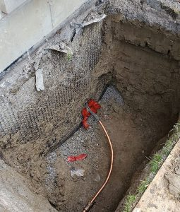 main water line entry to the house