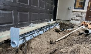 trench drain pipe installation process