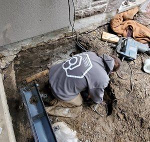 plumber doing work