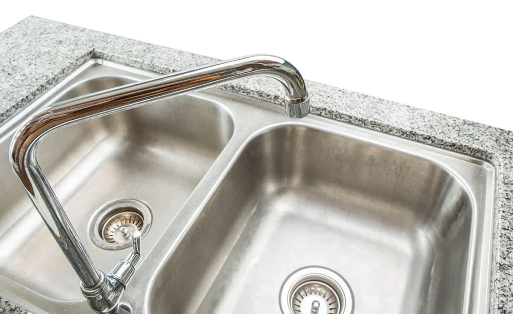 installing double kitchen sink