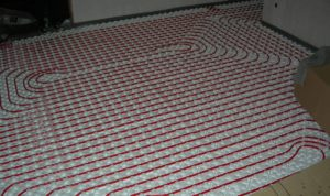installed radiant in floor heating