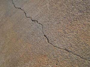 Crack in basement floor